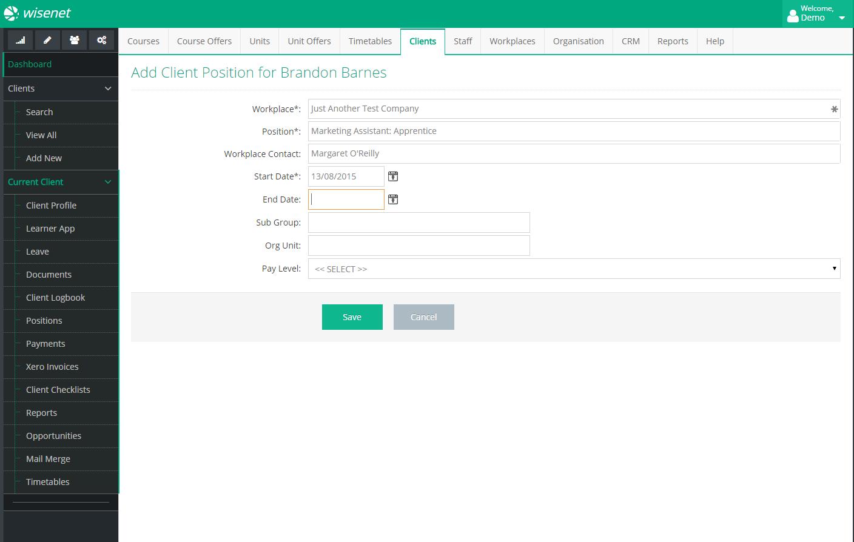 Wisenet Workplace Configuration for efficient LRM
